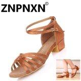 ขาย ซื้อ Znpnxn สาวละตินรองเท้าเต้นรำกับเด็กรองเท้าส้นเตี้ยๆ สีส้ม สนามบินนานาชาติ