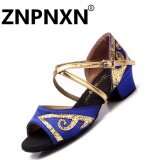 ซื้อ Znpnxn Low Heeled Girls Latin Dancing Shoes Children S Dance Shoes Female Latin Shoes Blue Intl Znpnxn เป็นต้นฉบับ