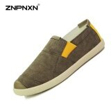ราคา Znpnxn Men S Shoes Fashion Trends Canvas Shoes Men S Shoes Comfortable Breathable Canvas Shoes(Brown Intl จีน