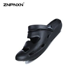 ส่วนลด Znpnxn รองเท้าผู้ชายรองเท้าแตะสไตล์ฤดูร้อนรองเท้าแตะรองเท้าแตะผู้ชายรองเท้าคัทชูขนาด 39 45 หลา สีดำ นานาชาติ จีน
