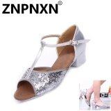 โปรโมชั่น Znpnxn New Children Latin Dance Shoes Children S Dance Shoes Sequins With Girls Latin Shoes Children Practice Shoes Sliver Intl ถูก