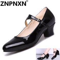ส่วนลด สินค้า Znpnxn รองเท้าเต้นรำรองเท้าส้นสูงหญิงรองเท้าเต้นแบบละตินรองเท้ารองเท้าปากตื้น สีดำ นานาชาติ