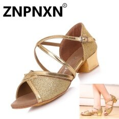 ราคา Znpnxn สาวรองเท้าเต้นรำละตินสาวฝึกซ้อมรองเท้าต่ำรองเท้าเด็กรองเท้าเต้นรำในร่ม ทอง นานาชาติ ออนไลน์