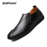 ราคา Znpnxn Spring Pure Hand Leather Shoes Men S Shoes Designer Shoes Men High Quality Men Slippers Sapato Masculino Size 38 44 Yards(Black) Intl เป็นต้นฉบับ Znpnxn
