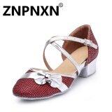 ขาย Znpnxn ฤดูร้อนสาวใหม่รองเท้าเต้นรำละตินรอบต่ำกับรองเท้าละตินรองเท้าเด็กน่ารัก สีแดง นานาชาติ ออนไลน์ จีน