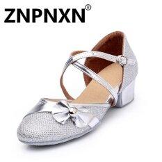 ซื้อ Znpnxn ฤดูร้อนสาวใหม่รองเท้าเต้นรำละตินรอบต่ำกับรองเท้าละตินรองเท้าเด็กน่ารัก Sliver นานาชาติ Znpnxn ออนไลน์