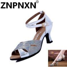 ขาย Znpnxn Summer New Women S Sandals Soft Bottom Dance Shoes *d*lt Modern Latin Dance Shoes Sliver) Intl Znpnxn ถูก