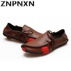 ขาย Znpnxn Synthetic Leather Casual Loafers Brown เป็นต้นฉบับ