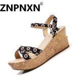 ขาย Znpnxn Women Fashion Shoes Sandals Casual Shoes Wedge Sandals(Black Intl Znpnxn เป็นต้นฉบับ