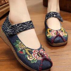 โปรโมชั่น Znpnxn รองเท้าสตรีประเทศไทยรองเท้ารองเท้าส้นแบนรองเท้าแตะและรองเท้าส้นเตารีด สีฟ้า