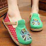 ขาย Znpnxn Women S Thailand Shoes Straw Shoes Flat Heel Shoes Mocassins Loafers Green ผู้ค้าส่ง