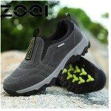 ราคา Zoqi รองเท้าสบายๆรองเท้าแบนชายรองเท้าส้นเตารีดเก่าฝูงเดินรองเท้ารองเท้า Gommino ขับรถรองเท้ารองเท้ารองเท้าหนังนิ่ม สีเทา นานาชาติ Zoqi เป็นต้นฉบับ