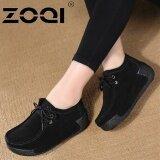 ซื้อ Zoqi รองเท้าลำลองรองเท้าผู้หญิงระบายอากาศได้รองเท้าแฟชั่น สีดำ ออนไลน์ ถูก