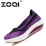 ราคา Zoqi Casual Shoes Comfortable Lightweight Breathable Handmade Woven Shoes Purple Intl