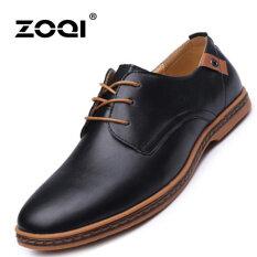 ซื้อ Zoqi ชายตัดแบบเป็นทางการ Pu แบบสบายๆ สีดำ ใหม่ล่าสุด