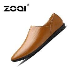 ซื้อ Zoqi รองเท้าแฟชั่นผู้ชายรองเท้าคัทชูรองเท้า สีน้ำตาล สนามบินนานาชาติ จีน