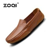 ขาย Zoqi Men S Fashion Slip Ons Loafers Formal Shoes Flat Shoes Brown Int L Intl ออนไลน์