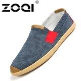 ซื้อ รองเท้าแฟชั่นผู้ชาย Zoqi Slip Ons รองเท้าผ้าใบรองเท้าลำลอง สีฟ้า Zoqi เป็นต้นฉบับ