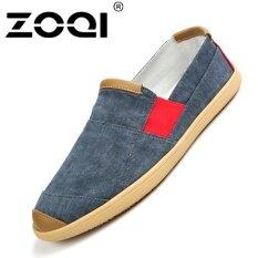 ส่วนลด สินค้า รองเท้าแฟชั่นผู้ชาย Zoqi Slip Ons รองเท้าผ้าใบรองเท้าลำลอง สีฟ้า