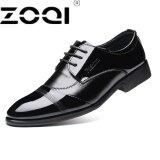 ราคา ราคาถูกที่สุด Zoqi ที่มีคุณภาพสูงฟอร์ดรองเท้าผู้ชาย Brogues รองเท้าลูกไม้ขึ้นวัวธุรกิจรองเท้าผู้ชายรองเท้าอย่างเป็นทางการพลัสขนาด