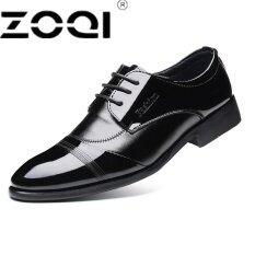 Zoqi ที่มีคุณภาพสูงฟอร์ดรองเท้าผู้ชาย Brogues รองเท้าลูกไม้ขึ้นวัวธุรกิจรองเท้าผู้ชายรองเท้าอย่างเป็นทางการพลัสขนาด เป็นต้นฉบับ