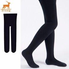 ส่วนลด Zrong เด็กหญิงบัลเล่ต์บัลเล่ต์การเต้นรำแรลลี่ Footed Seamless Solid ถุงน่อง สีดำ