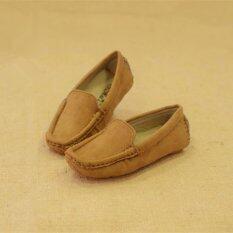 ทบทวน ที่สุด Zuucee 2016 Boy S And G*rl S Fashion Sewing Shoes Flat Shoes Brown