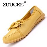 ซื้อ Zuucee Bird S Nest Hole Shoes Flat Sandals Sandals Summer Shoes Peas Shoes Leather Casual Women Mid Size Code Mother Shoes Yellow Intl ถูก จีน