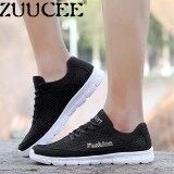 ราคา Zuucee รองเท้าแฟชั่นรองเท้าใส่สบายผู้ชายรองเท้ากีฬาสุทธิรองเท้าวิ่ง สีดำ สนามบินนานาชาติ ออนไลน์ จีน