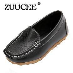 ซื้อ Zuucee สาวแฟชั่นอ่อนนุ่มด้านล่างรองเท้าลำลองรองเท้าแบน สีดำ ออนไลน์