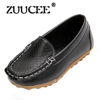 Zuucee สาวแฟชั่นอ่อนนุ่มด้านล่างรองเท้าลำลองรองเท้าแบน (สีดำ)