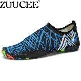 ราคา ราคาถูกที่สุด Zuucee รองเท้าว่ายน้ำกลางแจ้งของผู้ชายและผู้หญิงรองเท้าน้ำรองเท้าบู๊ทส์ชายหาดรองเท้าสบาย ๆ ฤดูร้อนรองเท้าฟิตเนส