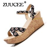 Zuucee Summer New Leather Flat With Female Beach Shoes Students Flat Down Pregnant Women Shoes Cool Slippers Fashion Non Slip Sandals Black Intl เป็นต้นฉบับ