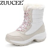 ทบทวน ที่สุด Zuucee Women High Boots Winter Cotton Boots Winter Casual Shoes White Intl