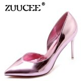 ขาย ซื้อ ออนไลน์ Zuucee Women Shoes High Heels Dress Party Shoes Woman Lace Up Pumps Female Mary Janes Shoes Pink Intl