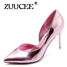 Zuucee Women Shoes High Heels Dress Party Shoes Woman Lace Up Pumps Female Mary Janes Shoes Pink Intl ใหม่ล่าสุด