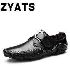 ขาย Zyats 2017 New Men Genuine Leather Breathable Business Shoes Black Intl Zyats ออนไลน์