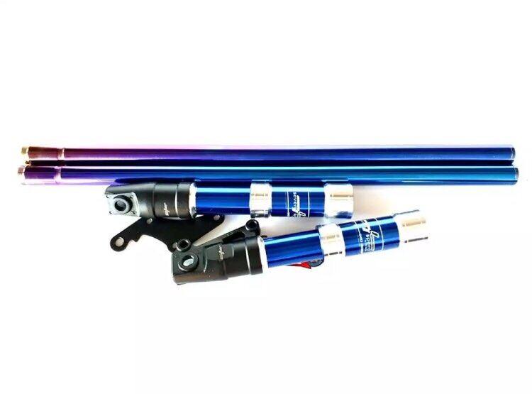 รีวิว กระบอกโช๊คหน้าแต่งสีน้ำเงิน+แกนโช๊คหน้าสีน้ำเงิน ตรงรุ่น ปั้มเดิม โซนิค เทน่า โนวา แดช