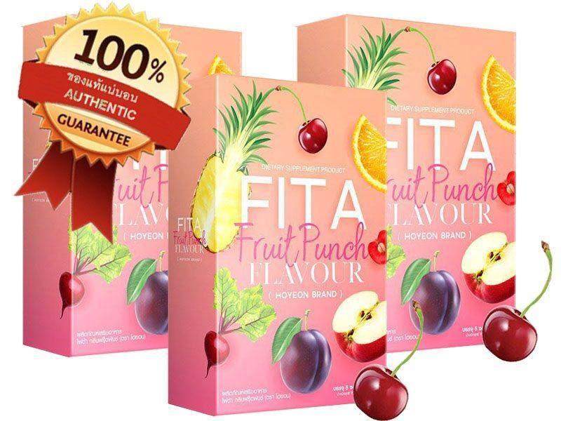 Fita Fruit Punch ไฟต้าพันซ์ลดน้ำหนัก พุงยุบจริง ไขมันลดจริง บรรจุ 5ซอง 3 กล่อง