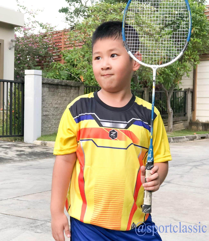 เสื้อกีฬาเด็ก พิมพ์ลายสวยงามแบบไม่เหมือนใคร เนื้อผ้านุ่ม