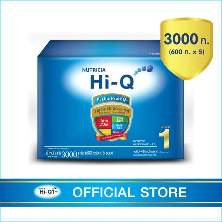 นมผง Hi-Q ไฮคิว พรีไบโอโพรเทก 3000 กรัม (ช่วงวัยที่ 1)
