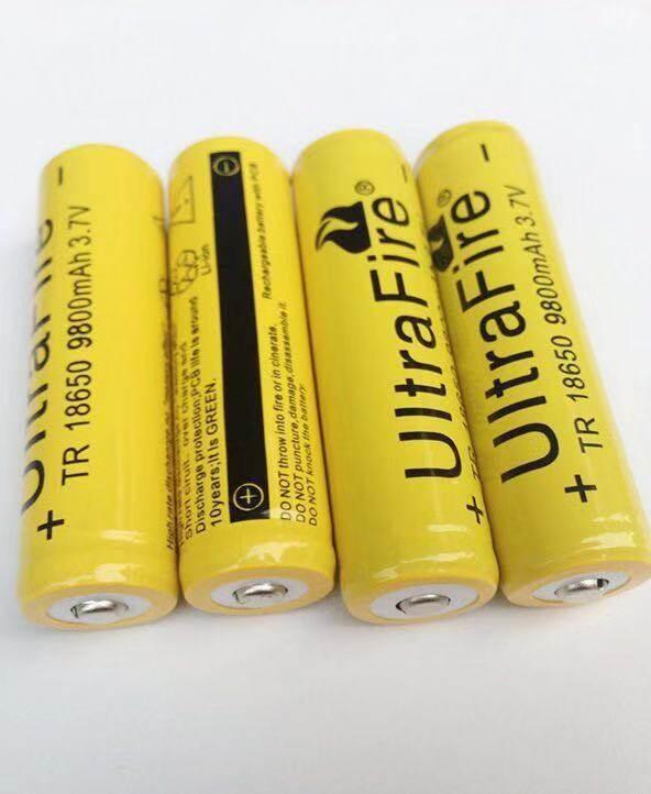 ถ่านชาร์จ 18650 Ultrafire 9800 Mah 4.2v 4ก้อน.