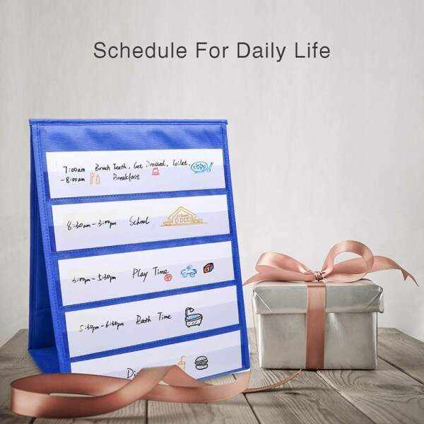 Mua Tabletop Desktop Pocket Chart Table Top With Bonus 20X Dry Erase Cards,Desktop Tabletop Teaching Pocket Chart Double Sided And Self-Standing (13 Inches X 12 Inches)