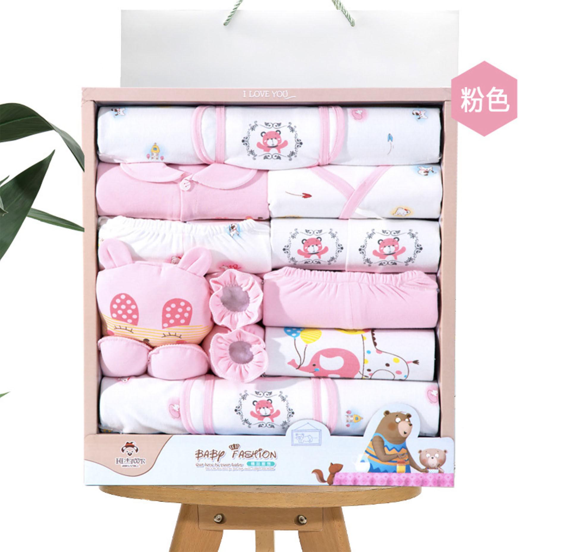 Baby ชุดของขวัญสำหรับเด็กอ่อน 18 ชิ้น (หมี) (แพ็คกล่องตามรูป100%)