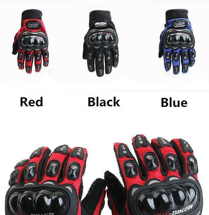 Touched Screen Gloves For Motorcycle ถุงมือขับมอเตอร์ไซค์ ทัชสกรีนได้ Pro-Biker ป้องกันการบาดเจ็บที่มือ ระบายอากาศดี (ฟรีไซต์).