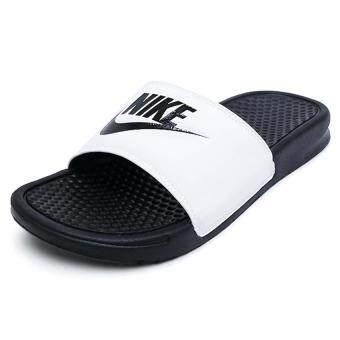 huge selection of b3367 1ffeb ล่าสุด Nike รองเท้าแตะผู้ชาย Nike Benassi JDI 343880-100  (Black White Black)  สินค้าลิขสิทธิ์แท้ shock price
