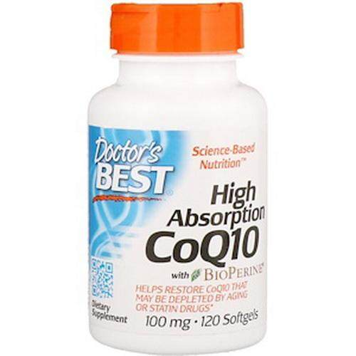 Doctor's Best, High Absorption CoQ10 With BioPerine, 100 Mg, 120 SoftgeQ10 คิวท็น