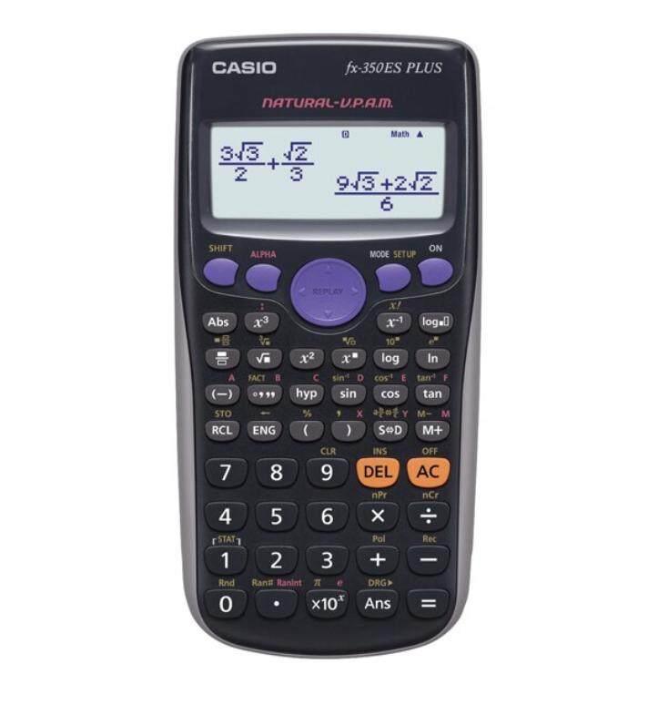 เครื่องคิดเลขวิทยาศาสตร์ Casio Fx-350es Plus ของแท้ รับประกัน 2 ปี จากcmg.