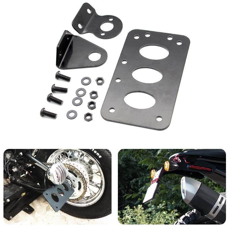 Side Mount Stop Style Taillight License Plate Bracket For Harley Bobber Chopper