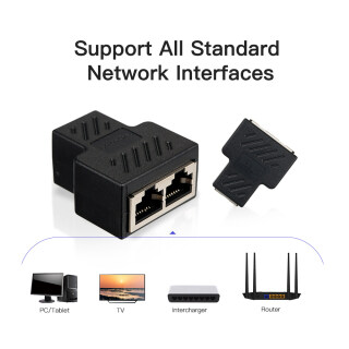 Đầu Nối Bộ Chia RJ45 1 Đến 2 Cổng Cái Bộ Chia Ổ Cắm Cáp Ethernet LAN CAT 5 CAT 6 CAT 7 Bộ Định Tuyến Máy Tính Xách Tay PC Liên Hệ Phích Cắm Mô-đun thumbnail
